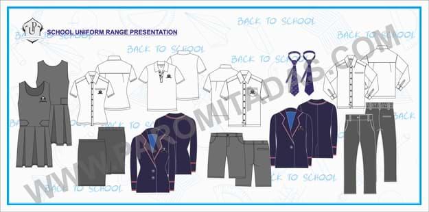 Apparel Line Sheet - School Uniform