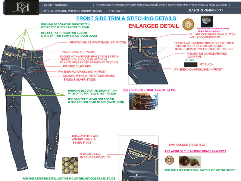 Stitching and Construction Details