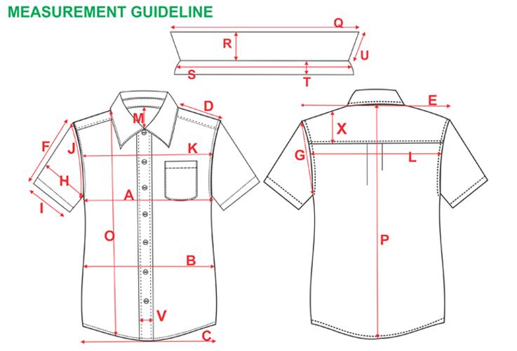 spec sheet graphical measurement guildline